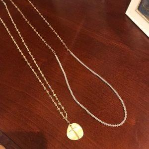 E Newton Layering Necklaces